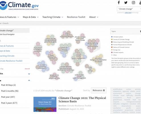 Climate.gov Visual Navigator