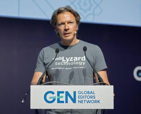 Arno Scharl of webLyzard technology at GEN Summit 2018 © Rainer Mirau for GEN