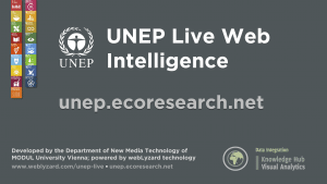 UNEP Live Web Intelligence - Cover Page