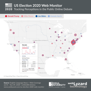 US Election 2020 Geographic Map - Location Tooltip Nevada