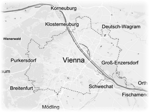 City of Vienna Geographic Map