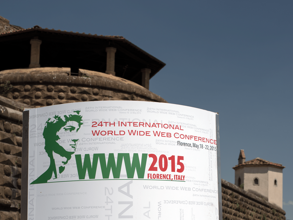 Entrance of World Wide Web Conference (WWW-2015)